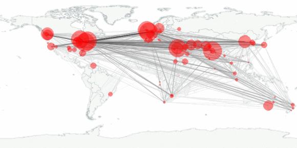 buzztracker map -- 2010-01-24